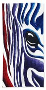 Colorful Stripes Original Zebra Painting By Madart Bath Towel