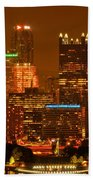 Colorful Summer Night In Pittsburgh Bath Towel