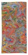 Colorful Swirls Drip Painting Bath Towel