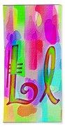 Colorful Texturized Alphabet Ll Bath Towel