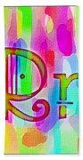 Colorful Texturized Alphabet Rr Bath Towel