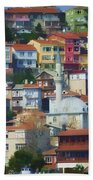 Colorful Town Hand Towel