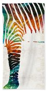 Colorful Zebra Art By Sharon Cummings Hand Towel
