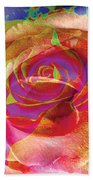 Colorfull Rose Bath Towel