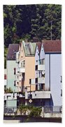 Colorul Houses In Germany Bath Towel