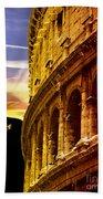Colosseum Sunset Bath Towel
