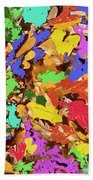 Coloured Oak Leaves By M.l.d. Moerings 2009 Bath Towel
