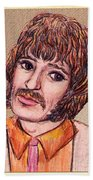 Coloured Pencil Portrait Bath Towel
