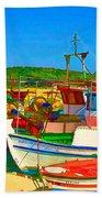 Colourful Boats Bath Towel
