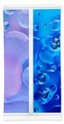 Colourful Bubble Abstract Quadriptych Bath Towel