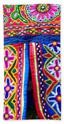 Colourful Fabric Art Bath Towel