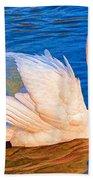 Colourful Swan Bath Towel