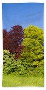Colourful Trees Bath Towel