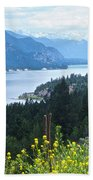 Columbia Lake Which Is Source Of The Columbia River-bc  Bath Towel