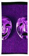 Comedy And Tragedy Masks 2 Bath Towel