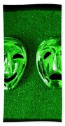 Comedy And Tragedy Masks 3 Bath Towel