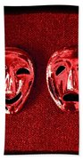 Comedy And Tragedy Masks 4 Bath Towel