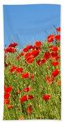 Common Poppy Flowers  Bath Towel