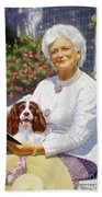 Companions In The Garden Hand Towel
