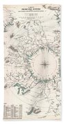 Comparative Map Or Chart Of The Worlds Great Rivers Hand Towel