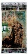 Composition Based On Angkor History Bath Towel