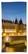 Conciergerie Twilight - River Seine Bath Towel