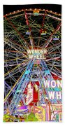 Coney Island's Famous Amusement Park And Wonder Wheel Bath Towel