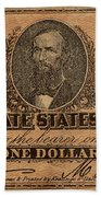 Confederate Dollar Bill Bath Towel