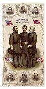 Confederate Generals And Flags Bath Towel