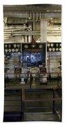 Control Board Engine Room Queen Mary Ocean Liner Long Beach Ca Bath Towel