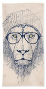 Cool Lion Hand Towel
