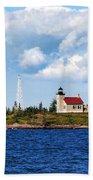 Copper Harbor Lighthouse Bath Towel
