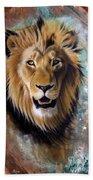 Copper Majesty - Lion Hand Towel by Sandi Baker