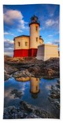 Coquille Lighthouse Hand Towel by Darren  White