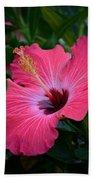 Coral Hibiscus Bath Towel