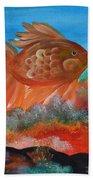 Coral Land Goldfish Bath Towel