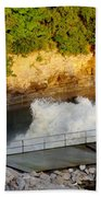 Coralville Dam At Capacity Bath Towel