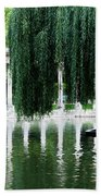 Corinthian Colonnade And Pond Bath Towel