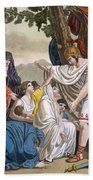 Coriolanus And His Mother Volumnia Bath Towel