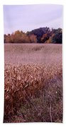 Corn Field In The Fall Bath Towel