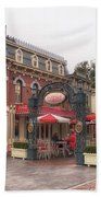 Corner Cafe Main Street Disneyland 02 Bath Towel