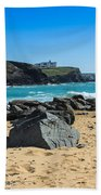 Cornish Seascape Gunwalloe Bath Towel