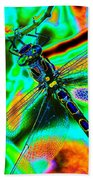 Cosmic Dragonfly Art 1 Bath Towel