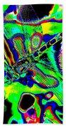 Cosmic Dragonfly Art 2 Bath Towel