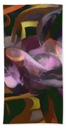 Cosmic Lightning Pastel Abstract Bath Towel