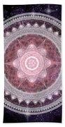 Cosmic Medallions Fire Bath Towel by Shawn Dall