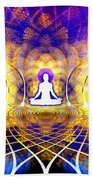 Cosmic Spiral Ascension 18 Bath Sheet by Derek Gedney