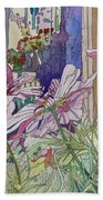 Cosmos At The Coffee Shoppe Hand Towel