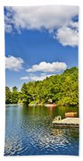 Cottages On Lake With Docks Hand Towel