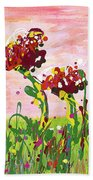 Cotton Candy Flowers Bath Towel